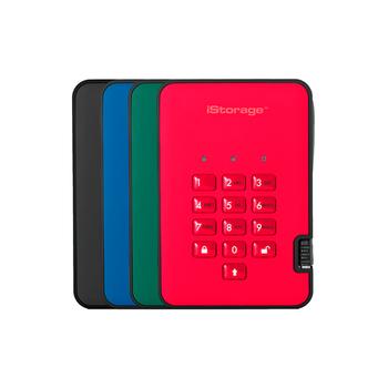 Внешний USB диск iStorage diskAshur 2 USB3.1 с аппаратным шифрованием Portable Encrypted Hard Drive