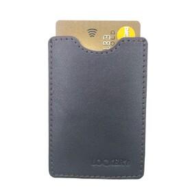 Чехол с RFID блокировкой для пластиковых карт кожаный коричневый