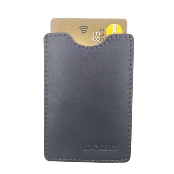 Чехол для пластиковых карт для защиты от считывания из натуральной кожи коричневый