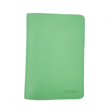 Обложка для паспорта с RFID защитой салатовая LockerPas2Green